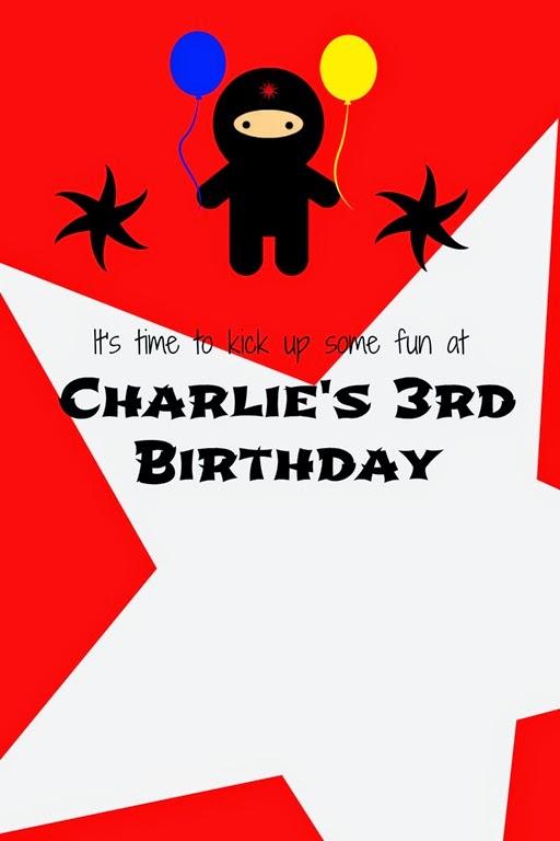 3rd Birthday: Ninja Party