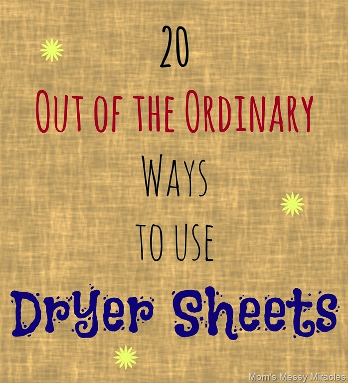 Out of the Ordinary Ways to Use Dryer Sheets