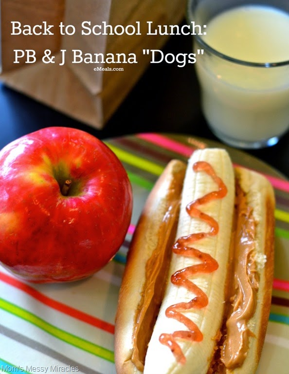 Back to School Lunches: PB&J Banana Dogs