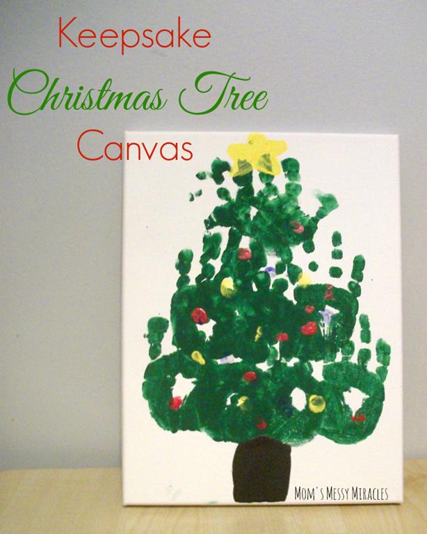 Handprint Christmas Tree Wall Art