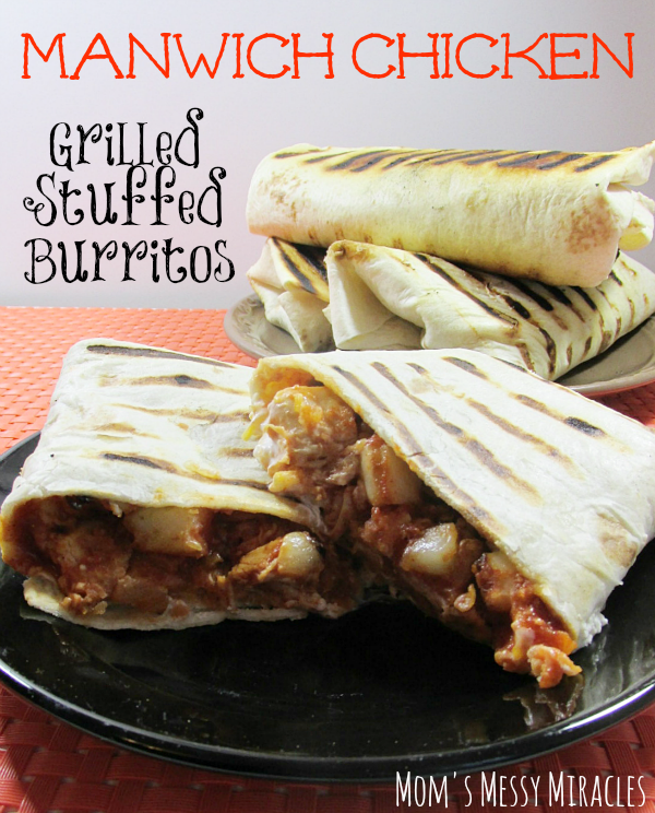 Manwich Chicken Grilled Stuffed Burritos