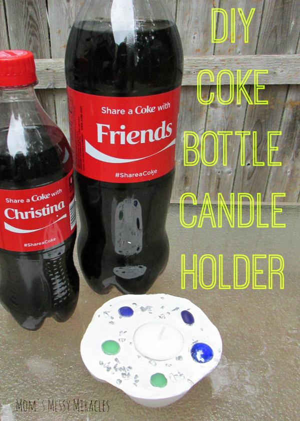 DIY Coke Bottle Candle Holder