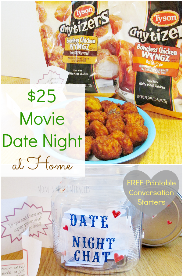 #Ad: Under $25 Movie Date Night at Home with Tyson Any'Tizers®