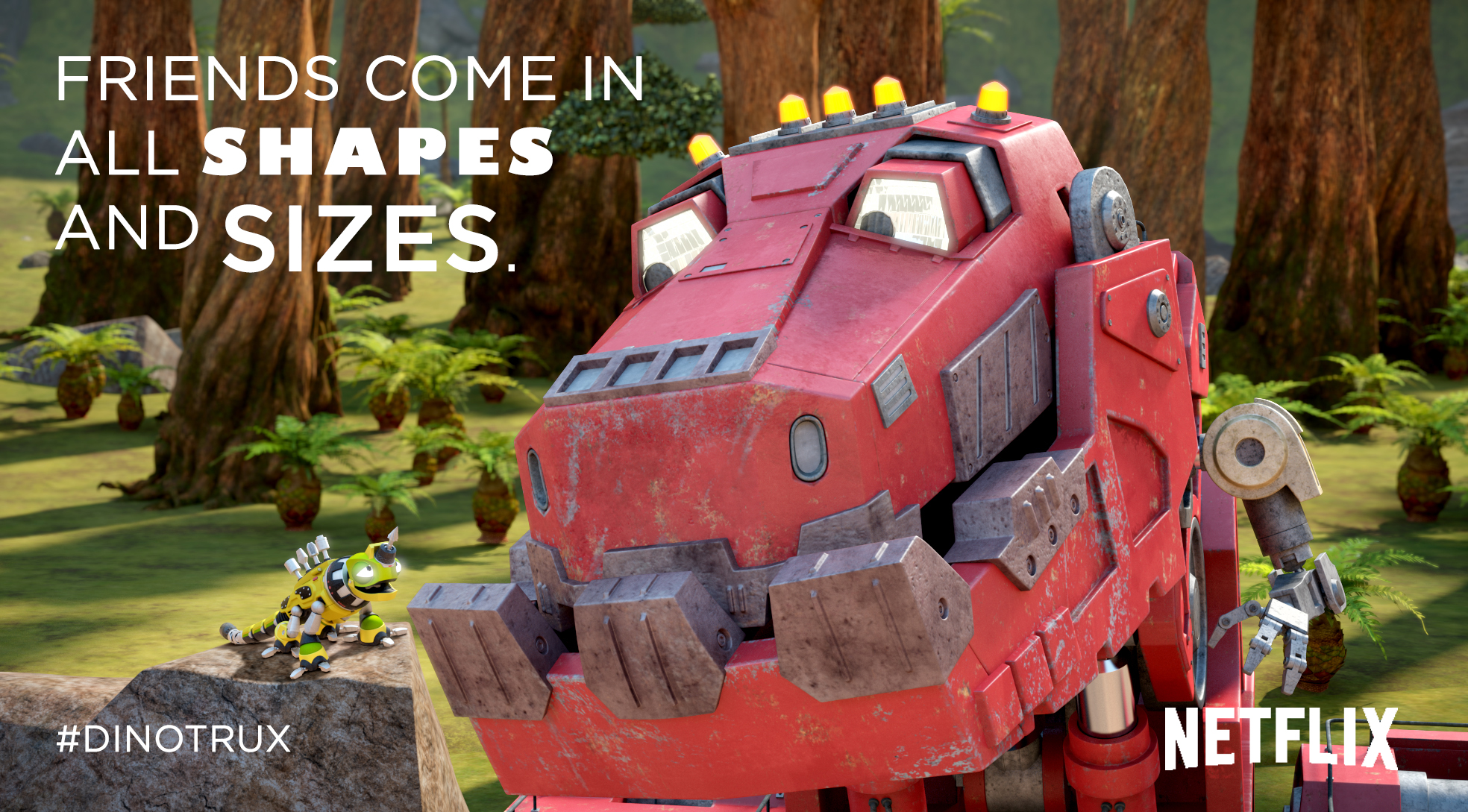 Dinosaurs + Trucks = Dinotrux on Netflix
