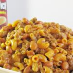 Cheesy Beef & Noodle Chuckwagon Skillet