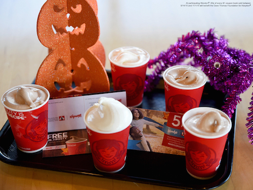 Support Adoption with Wendy's Jr. Frosty Coupon Books