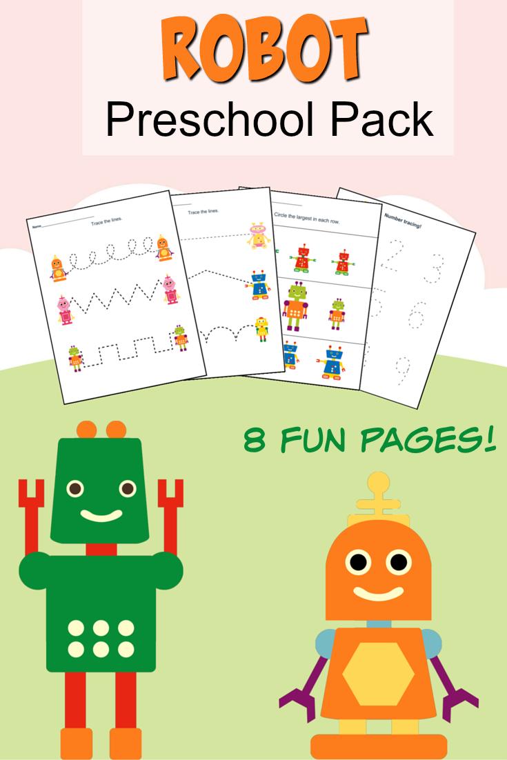 Printable Robot Preschool Pack