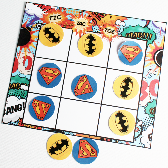 Superhero Tic-Tac-Toe – Free Printable