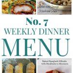 Weekly Dinner Menu #7