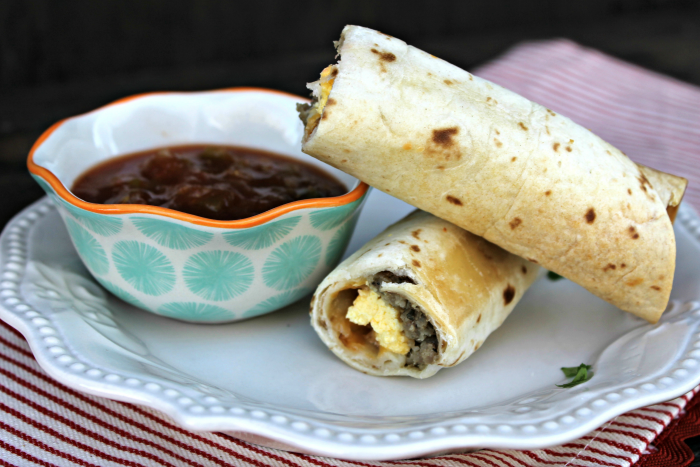Baked Sausage, Egg & Cheese Breakfast Taquitos