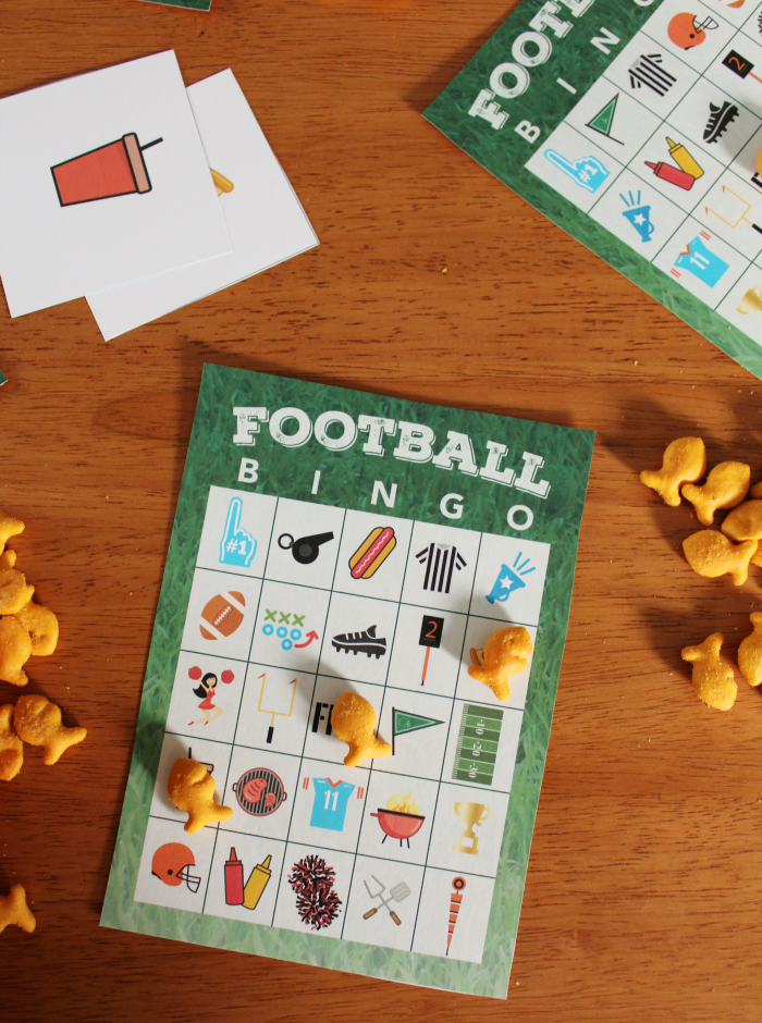 Football Bingo Cards from The Shirley Journey