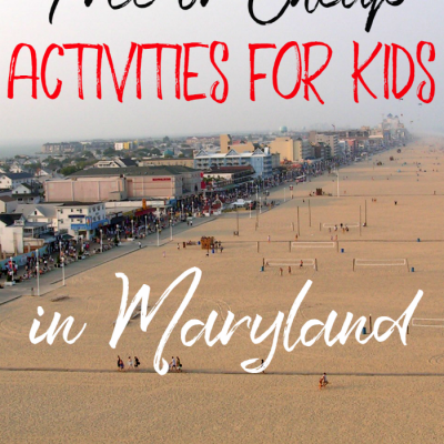 Free or Cheap Activities for Kids in Maryland