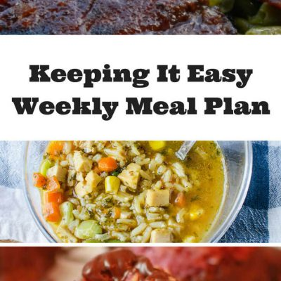 Easy Weekly Meal Plan #4