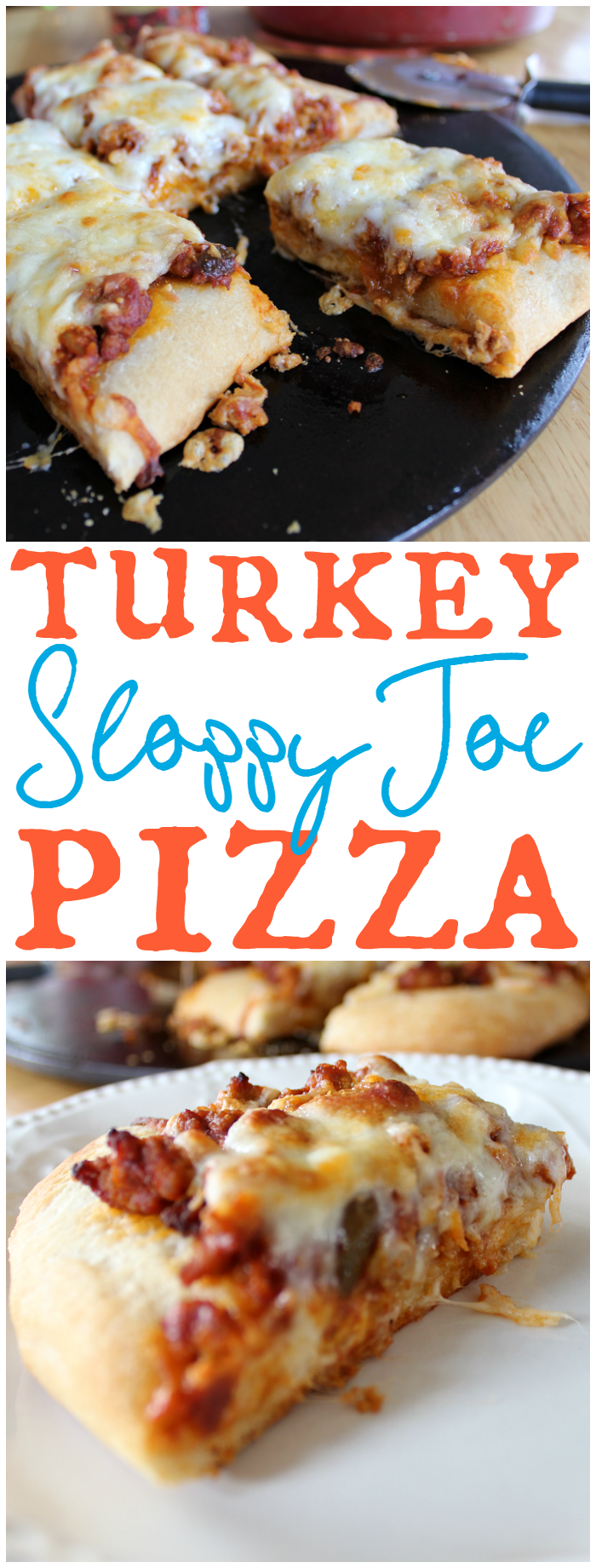 Turkey Sloppy Joe Pizza is a delicious, kid-approved, new spin on a classic!