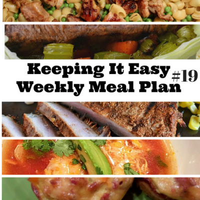 Easy Weekly Meal Plan #19