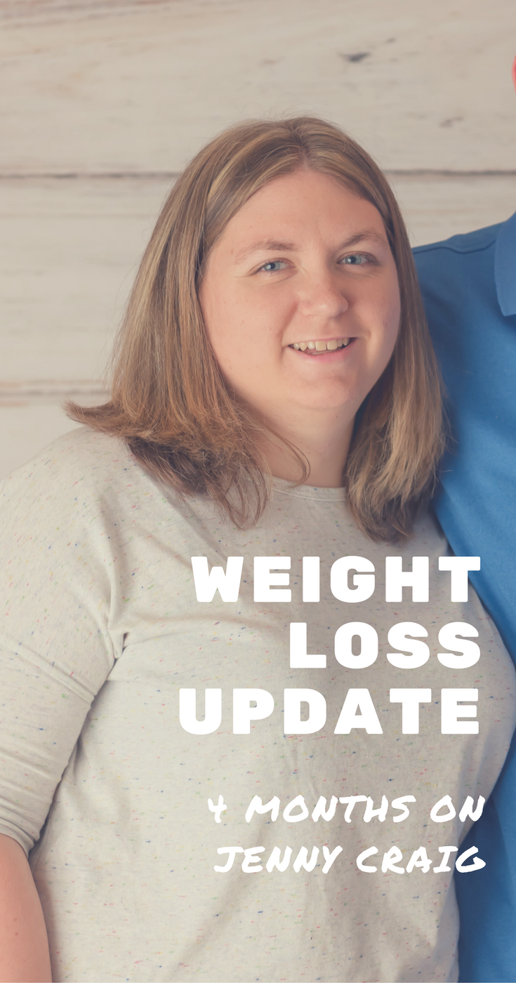 Read this blogger's weight loss update after 4 months on Jenny Craig.
