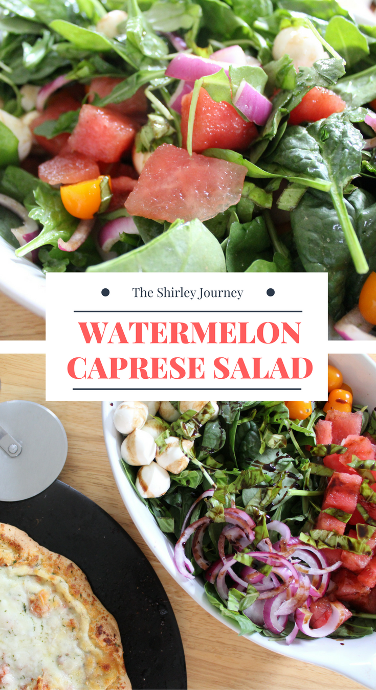 Watermelon Caprese Salad is a great side dish or a light lunch.