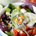 Southwest Salad with Jalapeno Ranch Greek Yogurt Dressing
