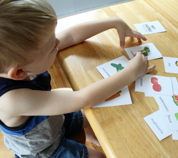 Fruit and Vegetable Flash Cards for Kids
