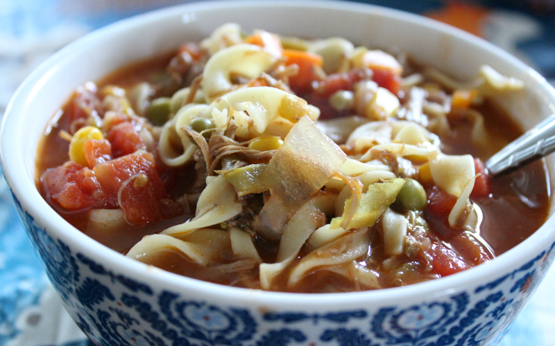 Slow Cooker Soup from Leftovers