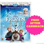 Free Frozen Blu-Ray after CashBack