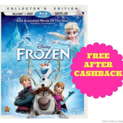 Free Frozen Blu-Ray after CashBack