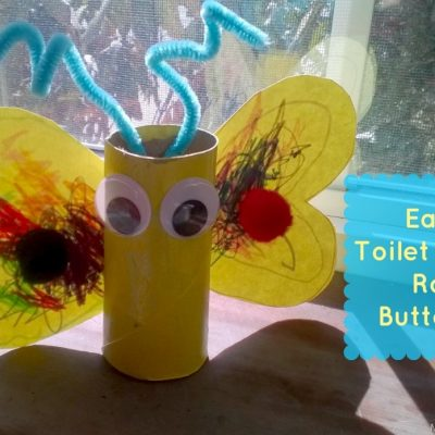 Easy Butterfly Toilet Paper Roll Craft