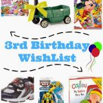 Charlie's 3rd Birthday Wishlist