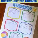 Summer Bucket List with Printable