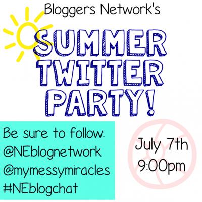 Northeast Bloggers Network Summer Twitter Party