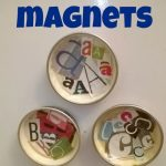 Alphabet Magnets from Baby Food Jar Lids