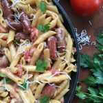 One Pot Cheesy Smoked Sausage Pasta