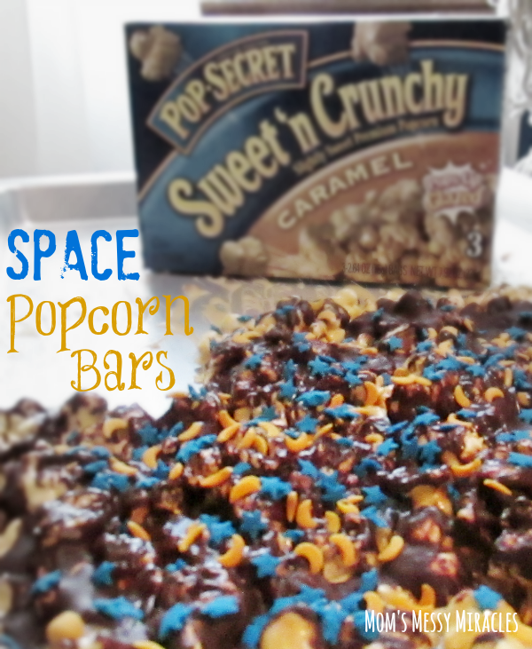 Spaceship Building and Pop Secret Space Bar Snack