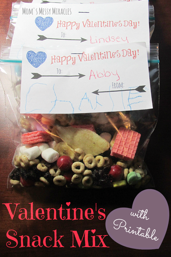 Valentine's Day Snack Mix with Printable