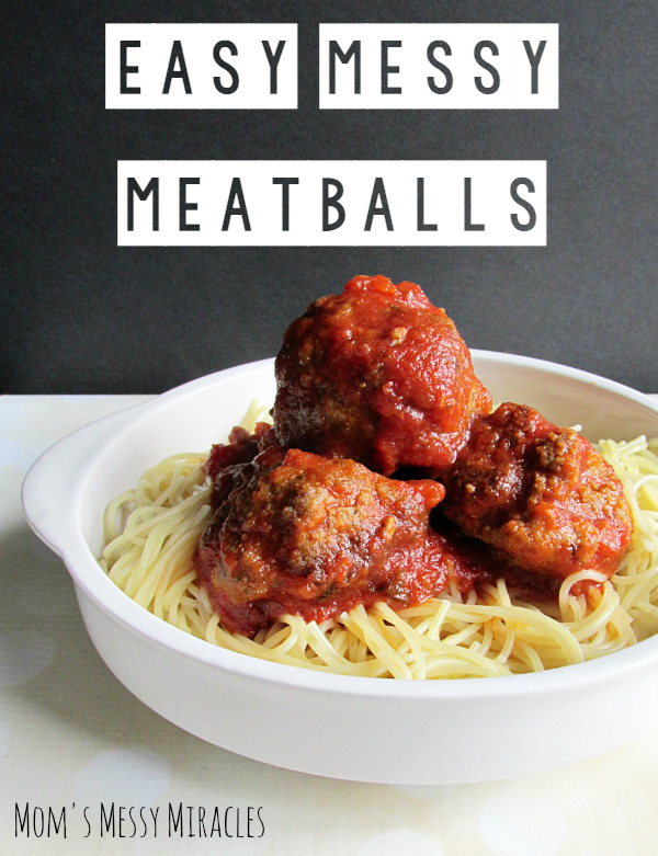 Easy Messy Meatballs