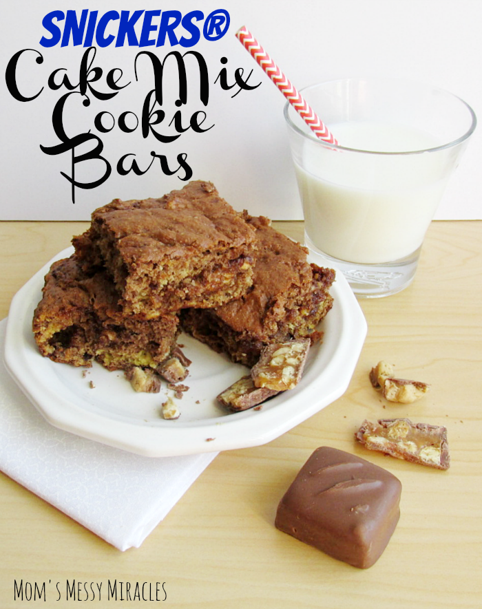 SNICKERS® Cake Mix Cookie Bars For When You're Hungry
