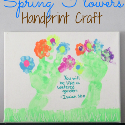 Spring Flowers Handprint Craft