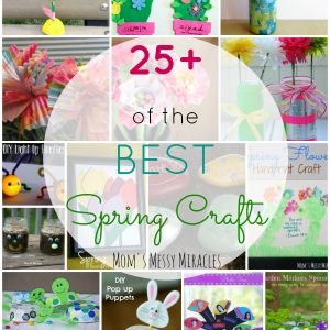 This is the best list over over 25 Spring Crafts! Most for kids, but you'll find something for everyone!