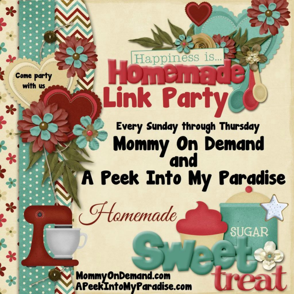 Happiness is Homemade Link Party #65
