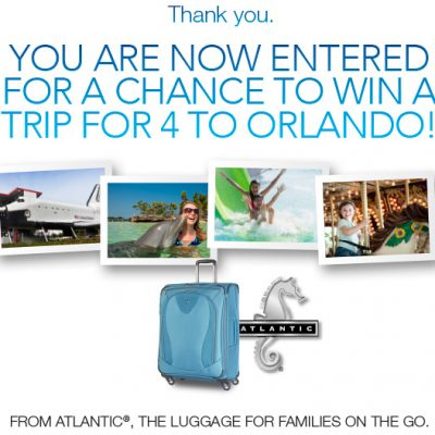 Orlando Trip Sweepstakes from Atlantic Luggage