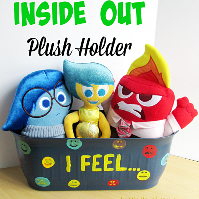 DIY Inside Out Plush Toy Holder