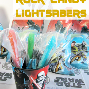 Rock Candy Lightsabers for a Star Wars Rebels Party