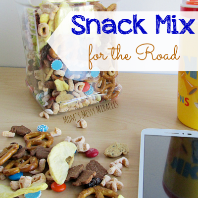 Snacking Tips for Trips and a Snack Mix Recipe