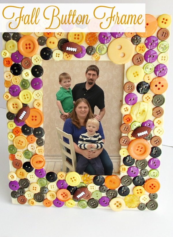 Fall Family Photos + Button Frame