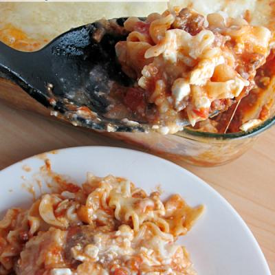 My Favorite Lasagna Casserole