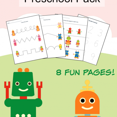 Printable Robot Preschool Pack
