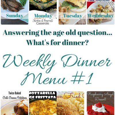 Weekly Dinner Menu