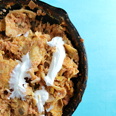 Chicken Chilaquiles with Eggs