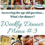 Weekly Dinner Menu #3