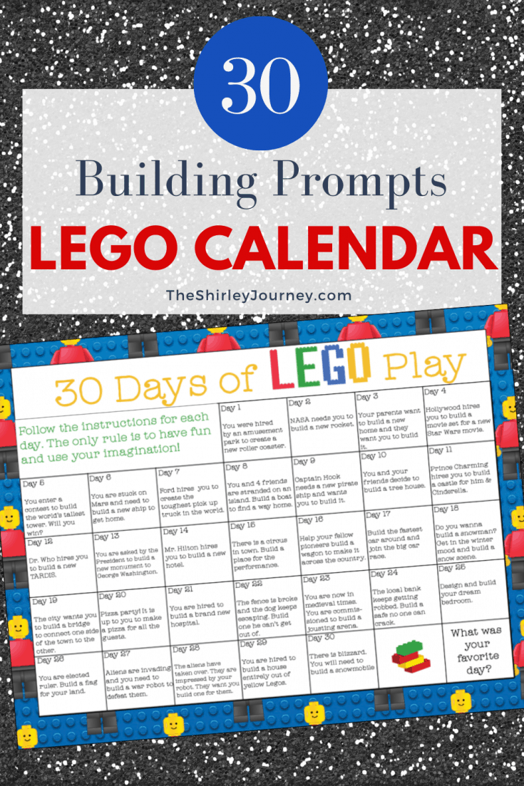 Lego Calendar April 2021 30 Days of LEGO Play   Free Printable Calendar   The Shirley Journey